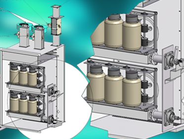 Chamber for rotating products